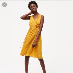 Goldenrod Yellow Tie Waist Dress